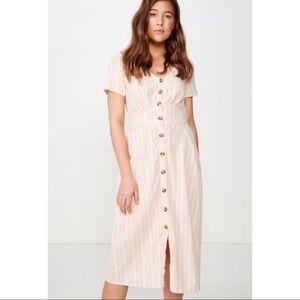 Cotton On Front Button Midi Dress